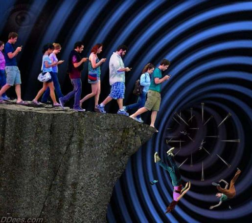 people-on-cells-walking-off-cliff