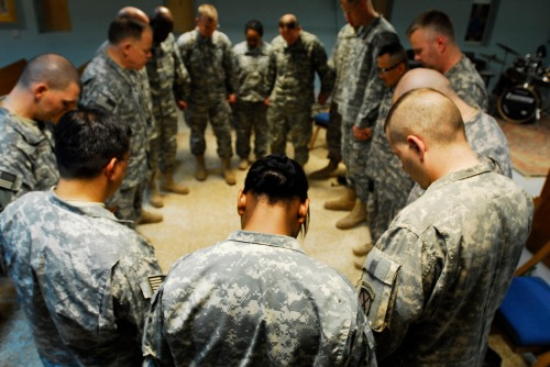 Image result for army soldiers praying together